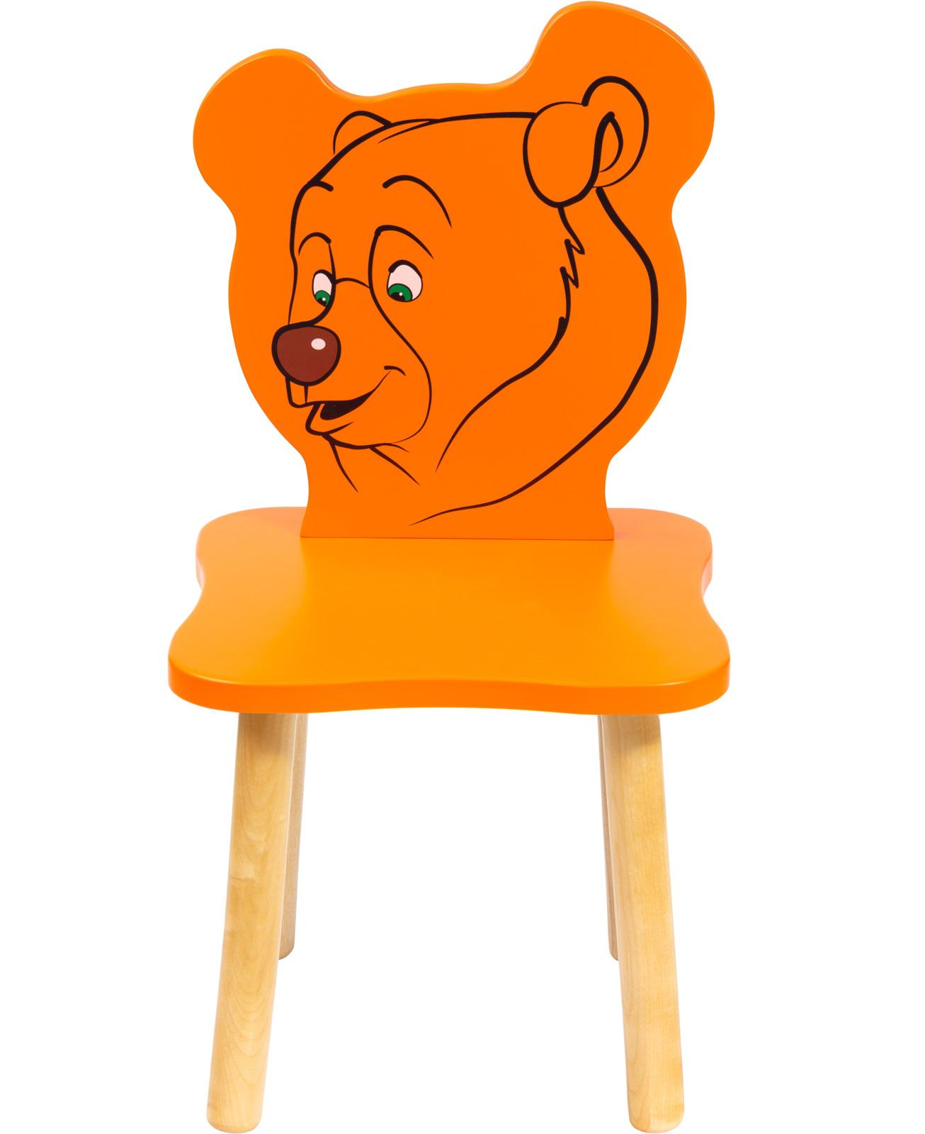 Polli Tolli Джери Стул детский Медвежонок цвет оранжевый цена и фото