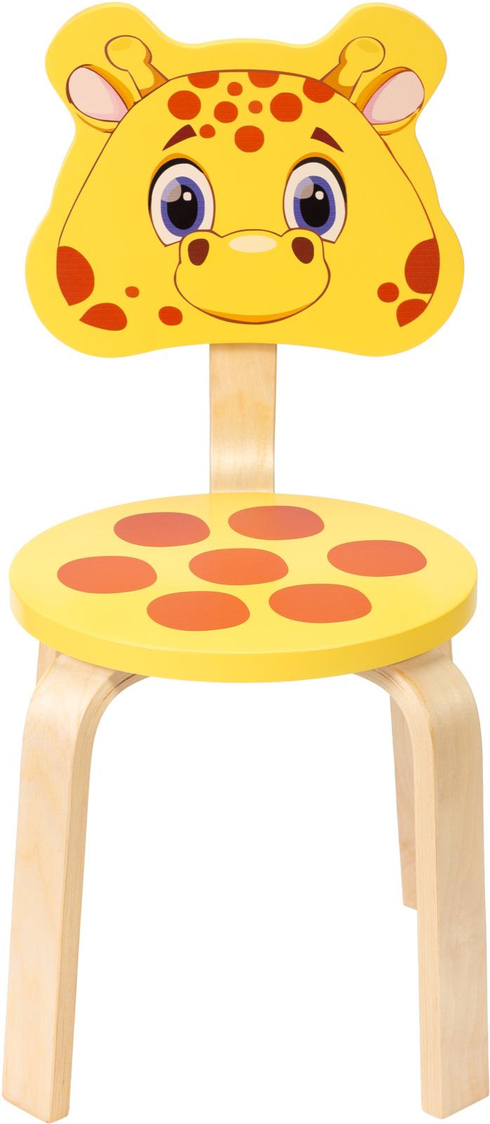 Polli Tolli Мордочки Стул детский Жирафик цвет желтый цена и фото