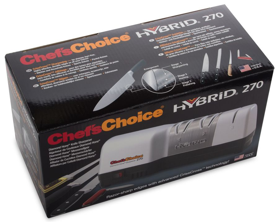 Точилка электрическая для заточки ножей, цвет белый, CC270W, Chef'sChoice, США Chefs Choice