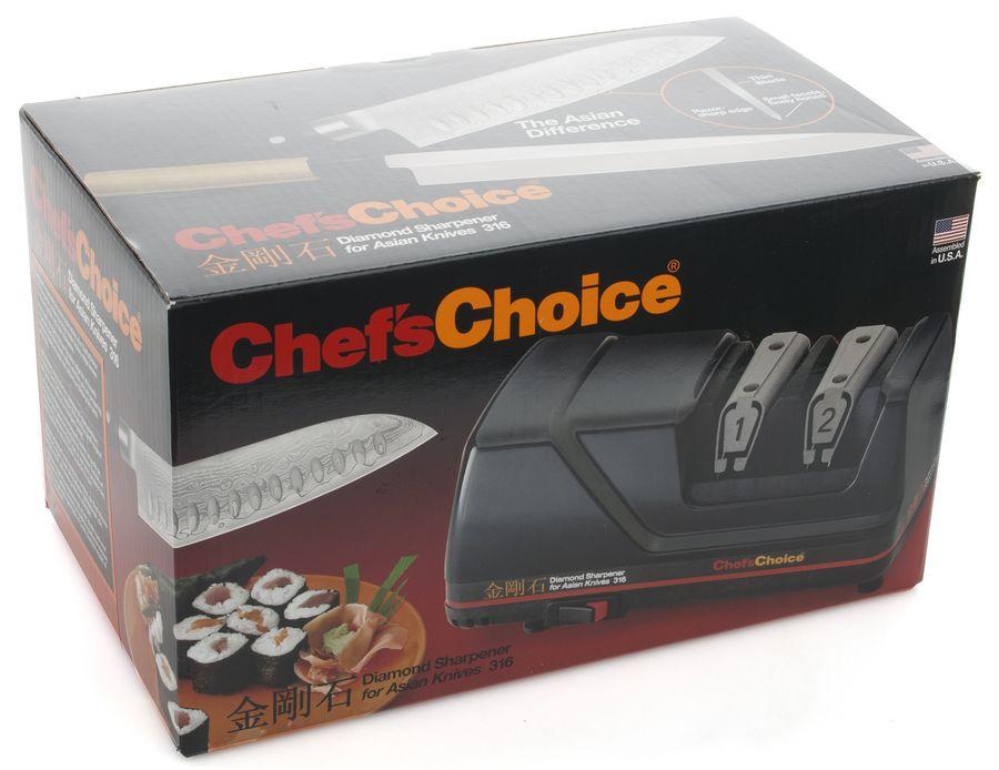 Точилка электрическая для заточки японских ножей, черная, CC316, Chef'sChoice, США Chefs Choice