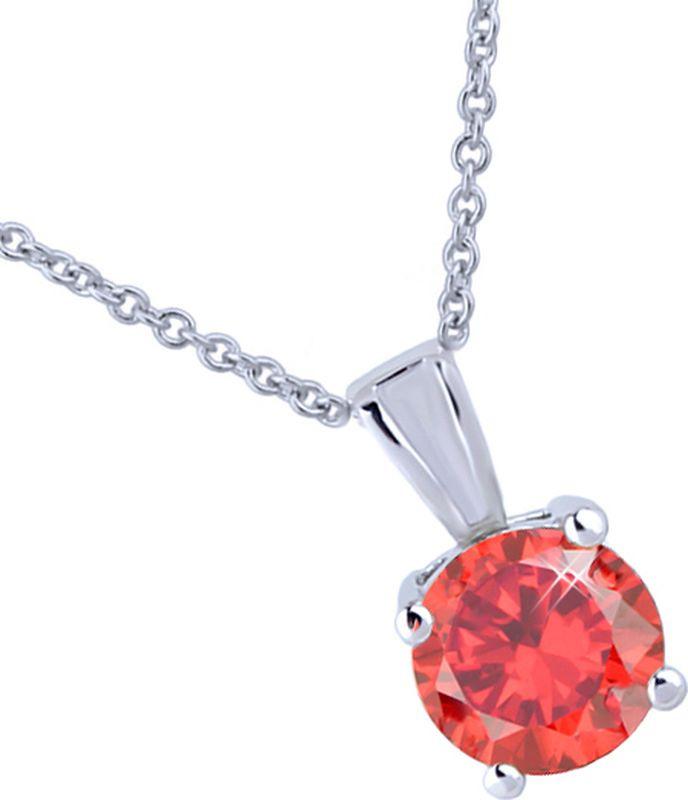 Подвеска женская Ice&High, цвет: серебряный, темно-оранжевый. ZK888506RZK888506RЦвет кристаллов: темно-оранжевый . Покрытие гальваническое - родий. Цвет покрытия: серебряный.