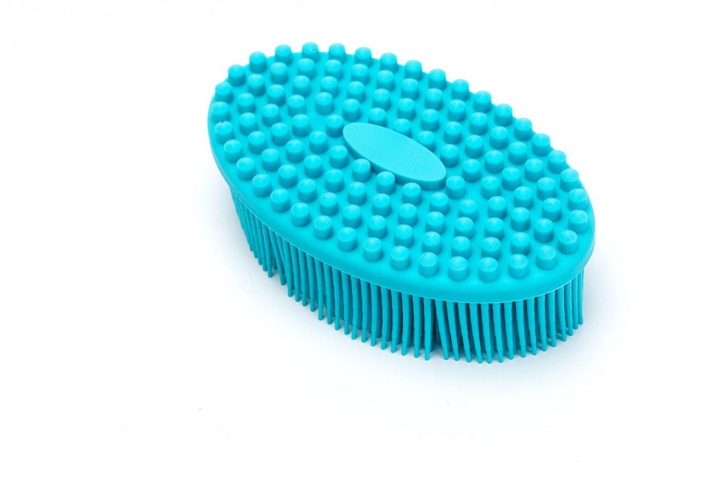 Щетка массажная для тела Bradex «Актиния», KZ 0458, голубой щетка массажная для тела bradex актиния сиреневый