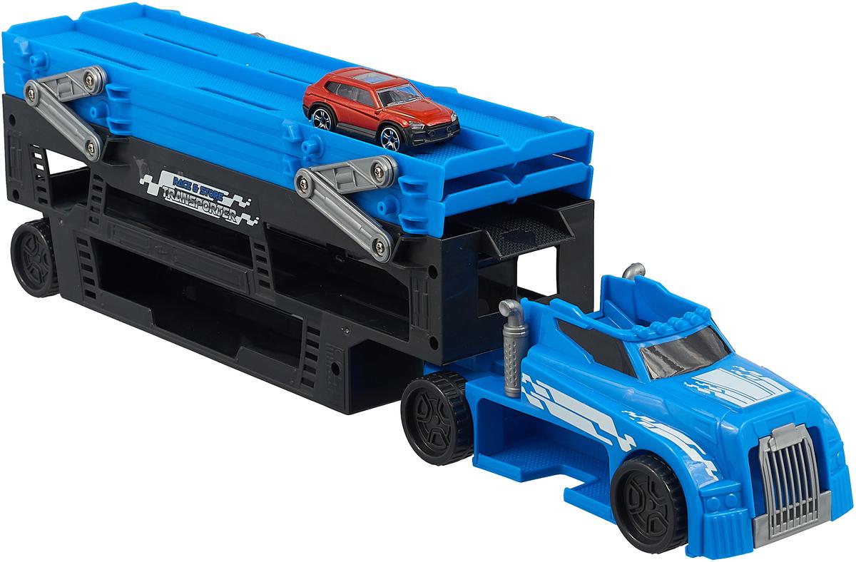 Автовоз Dickie Toys City, 3747002, синий + 1 машинка
