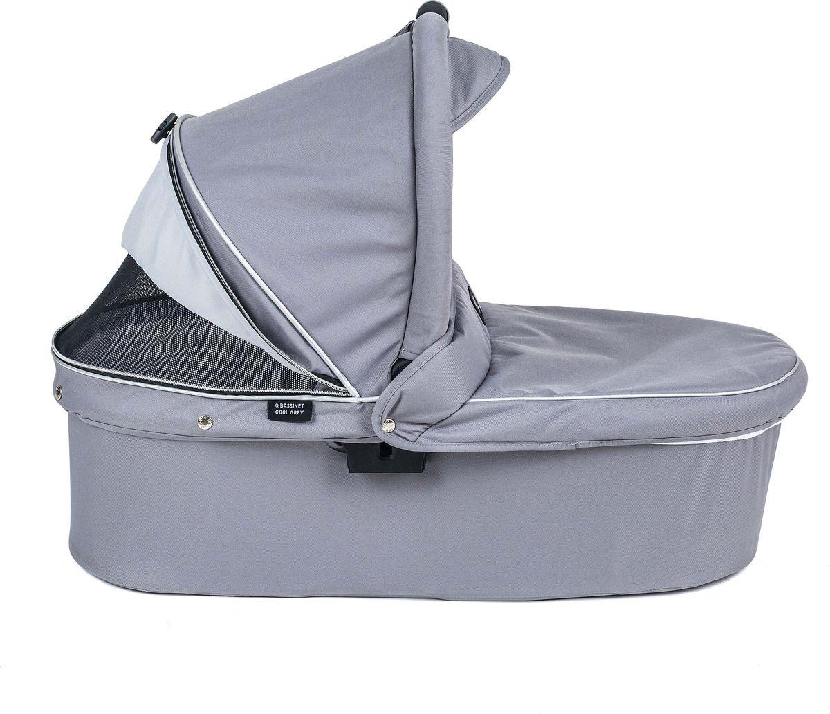 Люлька Valco Baby Q Bassinet для Trimod X, Snap 4 Ultra, Quad X Cool Grey цена