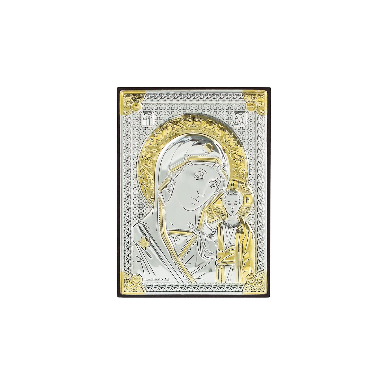 Икона АргентА Казанская Божья Матерь, цвет: золотистый, серебристый, 6х9 см. 18048 2L18048 2LИконы итальянского производителя являются точной копией Византийского священного образа. Иконы воспроизведены с типичными цветами иконографии, с применением покрытия вакуумного напыления серебра. Основа иконы - МДФ. Имеется крепление на стену и откидная ножка-подставка. Иконы продаются в фирменных футлярах. Иконы освящены местной религиозной организацией Православного прихода Свято-Покровского Храма города Кольчугино Владимирской области Александровской Епархии Московского Патриархата (РПЦ).