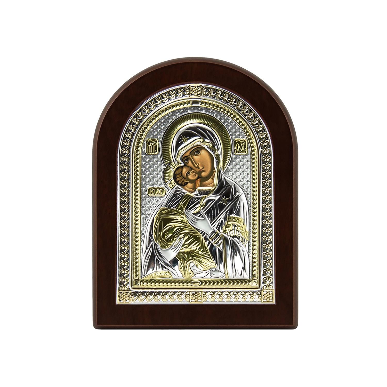Фото - Икона АргентА Владимирская Божья Матерь, цвет: золотистый, серебристый, 9.5х13 см. 85200 2LORO иконы