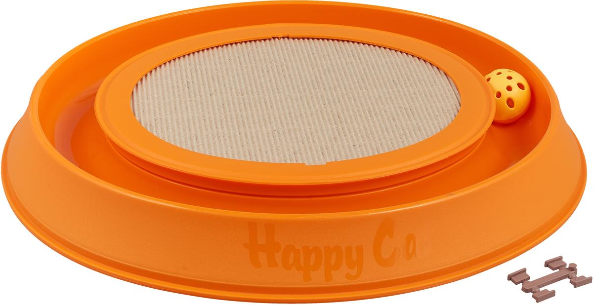 Когтеточка-игрушка для кошек Happy Cat, 10593, оранжевый, 40,5 х 37,5 х 5 см