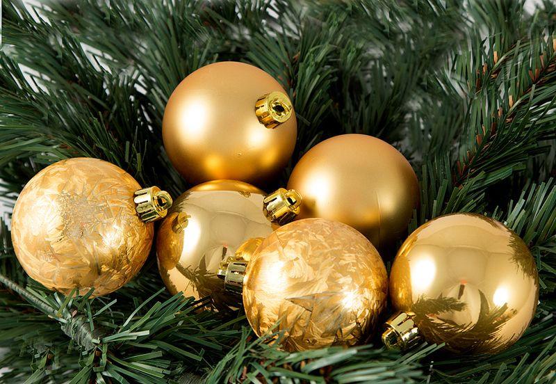 Елочная игрушка Русские Подарки Шары, цвет: золотой, 6 шт елочная игрушка русские подарки шары цвет золотой 6 шт