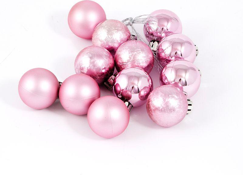 Елочная игрушка Русские Подарки Шары, цвет: розовый, 12 шт елочная игрушка русские подарки шары цвет золотой 6 шт