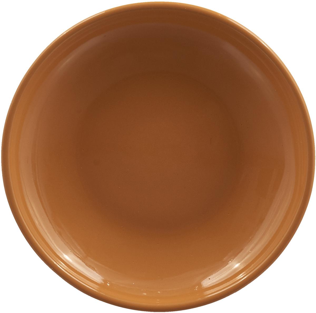 """Блюдце Борисовская керамика """"Радуга"""", РАД14458109, оранжевый, диаметр 10 см"""