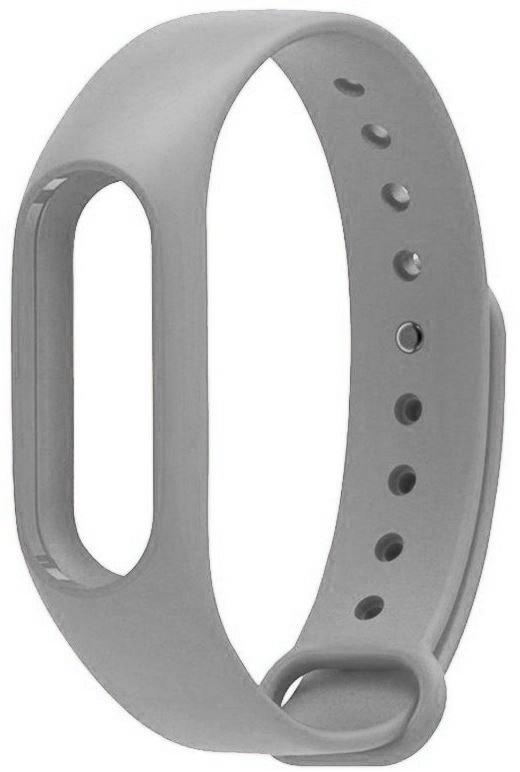 Ремешок для фитнес-браслета Xiaomi Mi Band 2 силиконовый серый, BMiB2 Grey фитнес трекер xiaomi mi band 2