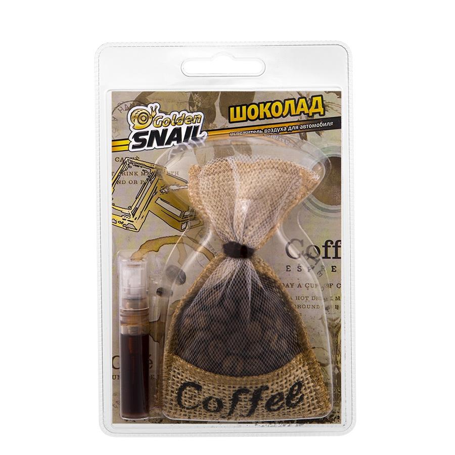 Ароматизатор Golden Snail Мешочек кофе Шоколад, 141-GS6103 ароматизатор golden snail мешочек кофе mix