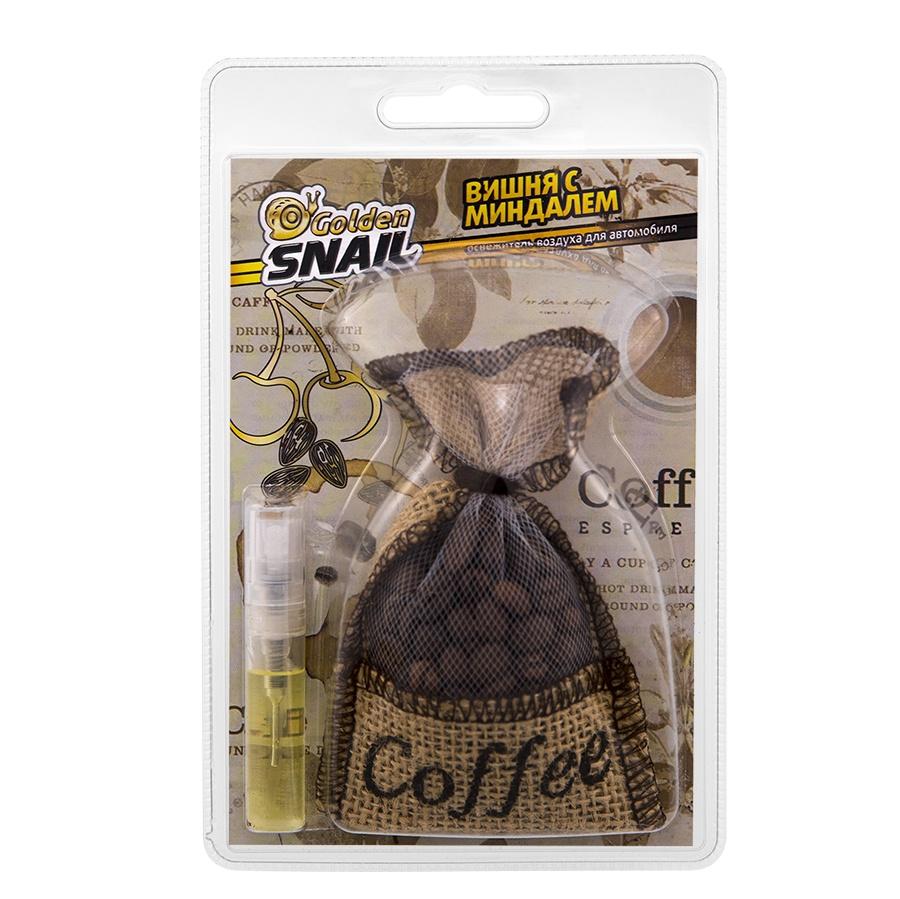 Ароматизатор Golden Snail Мешочек кофе Вишня и миндаль, 141-GS6104 ароматизатор golden snail мешочек кофе mix