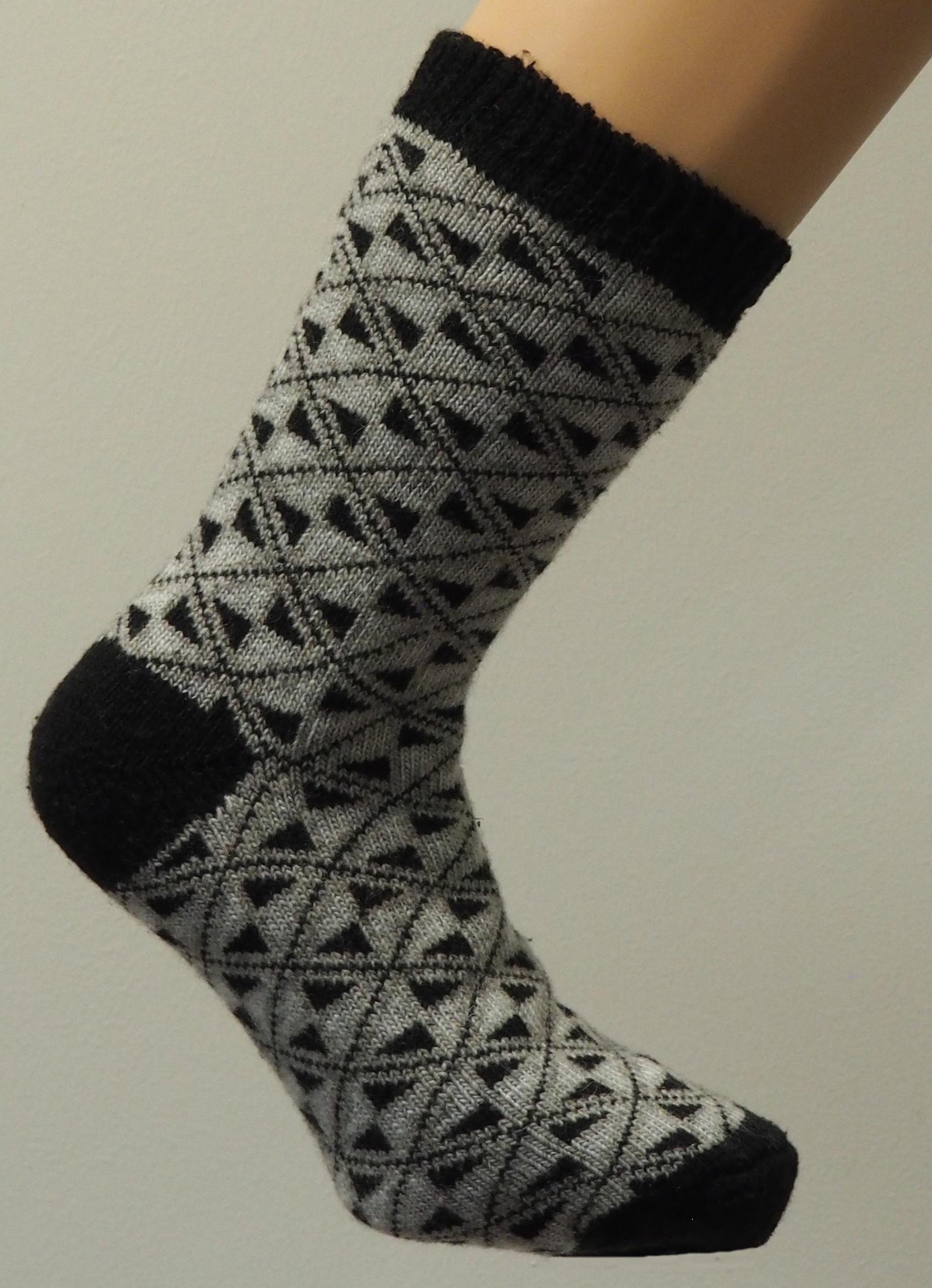 Фото - Носки носки эврика шерстяные со снежинками white 98799