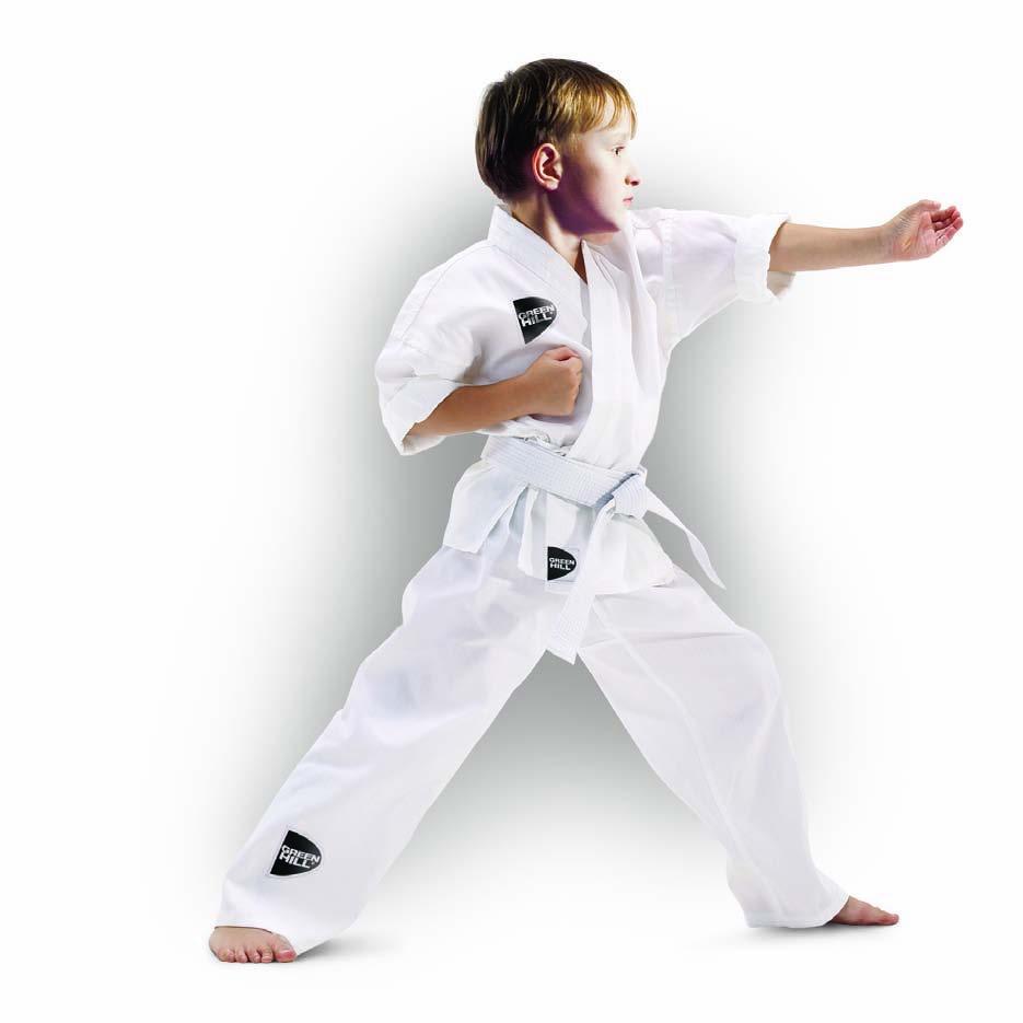 Кимоно для каратеHGA-4014_RD_3Кимоно для занятий каратэ, детское. В отличии от взрослых вариантов, соответствующие ростовки, выполнены с соблюдением пропорций, отличающих взрослого от подростка. Материал: хлопок. Пояс в комплекте. Плотность - 180г/м2