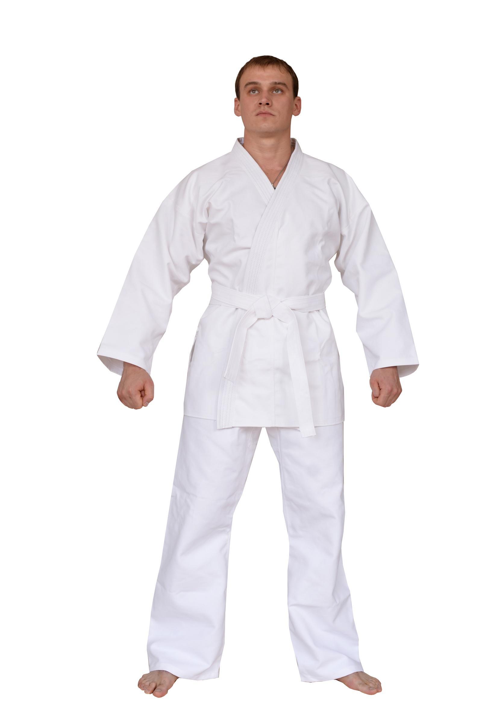 Кимоно для карате TENGO, белый 128-64 размерк7-128-64Кимоно для карате изготовлено из хлопка, плотность ткани 200-230 г/кв.м. В комплект входит: куртка, брюки, пояс. Кимоно дает усадку при стирке, рекомендуется приобретать кимоно на размер больше.