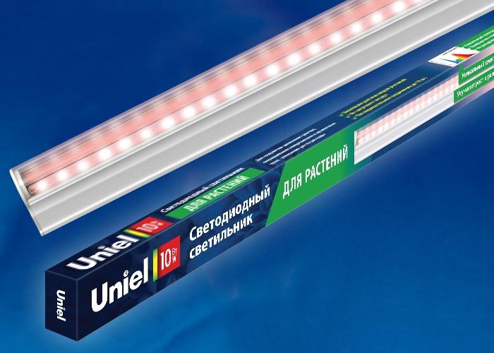 Светильник для растений Uniel, светодиодный, линейный, спектральный, 10W, 570 мм светильник для растений uniel uli p10 10w spfr ip40 white светодиодный линейный 550мм