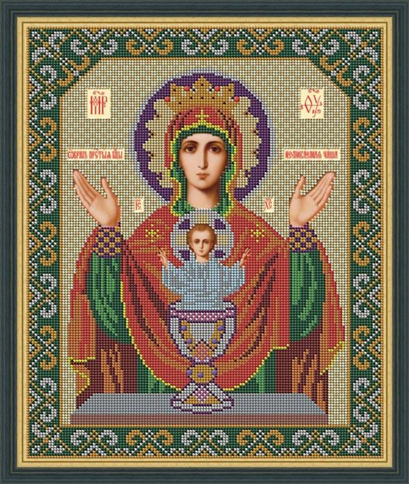 Набор для вышивания бисером Икона Божией Матери Неупиваемая чаша, 28 x 33 см икона юлия бисер
