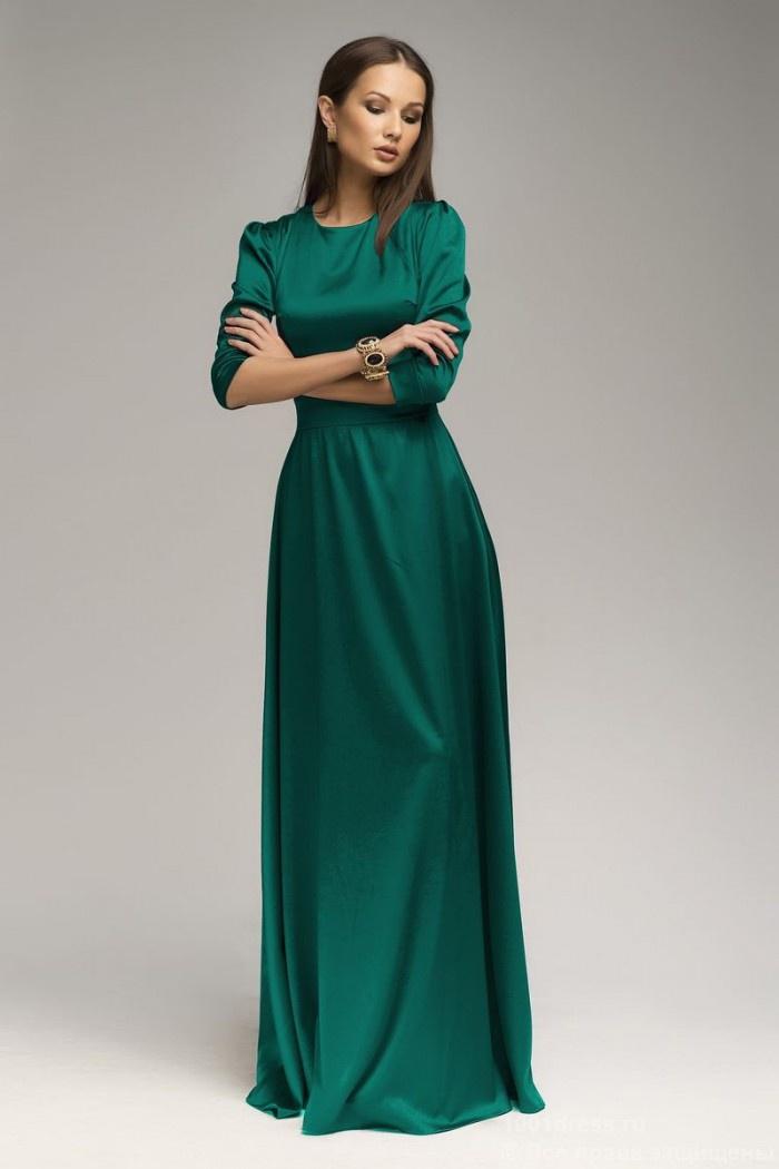 Платье 1001 Dress вечернее длинное платье с длинными рукавами