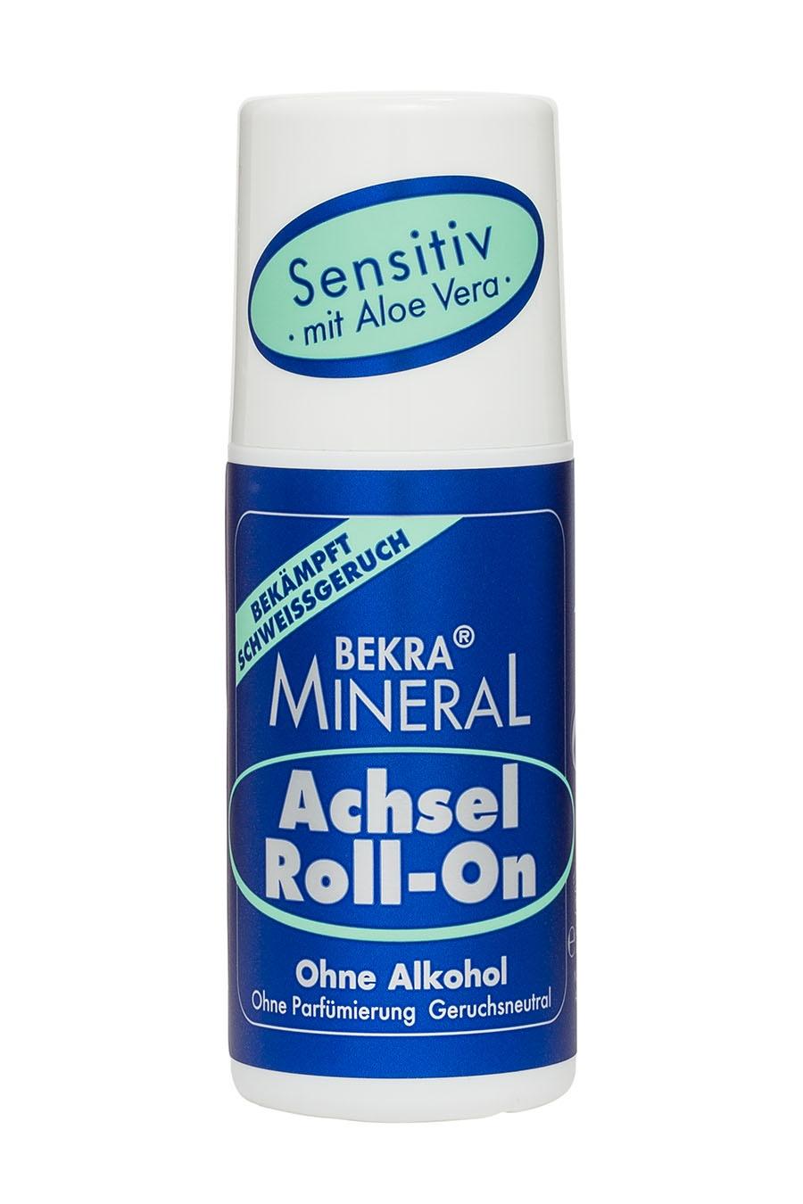 Минеральный шариковый дезодорант Bekra Mineral Achsel Roll-On Sensitiv дезодорант спрей для ног bekra mineral fuss geruch stop минеральный 150 мл
