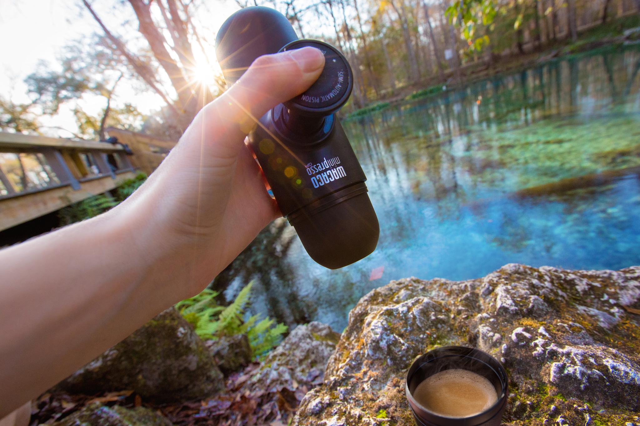 Кофемашина Wacaco Ручная мини-кофемашина Wacaco (MINIPRESSO-GR), молотый кофе, MINIPRESSO-GR, черный Wacaco