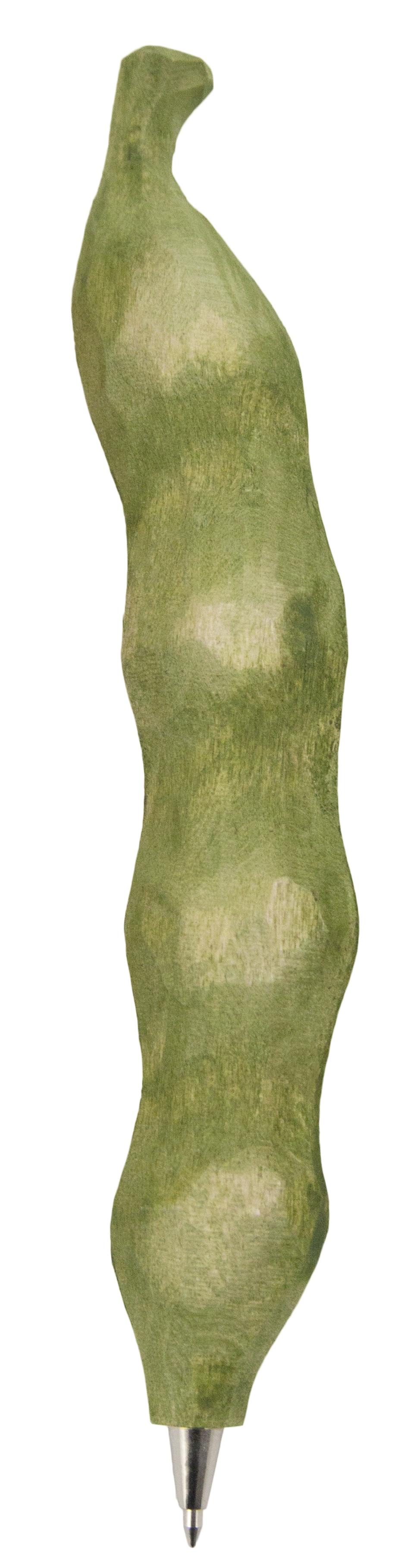 Ручка шариковая Wildlife Garden Bean, WG535, зеленый, ручная работаWG535Материал: дерево (липа). Все использованные материалы экологичны, не содержат вредных веществ. Размер: 14,9 х 1,4 х 2,4 см. Цвет: зеленый. Шариковая. Изготовлена и раскрашена вручную.