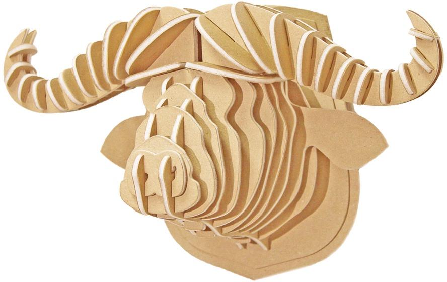 Конструктор 3D Green planet 218 Голова африканского буйвола КВК Бурый 200*320*180 мм471-218Конструктор 3D из войлока и картона в ЭКО стиле для детей от 3-х лет и взрослых.
