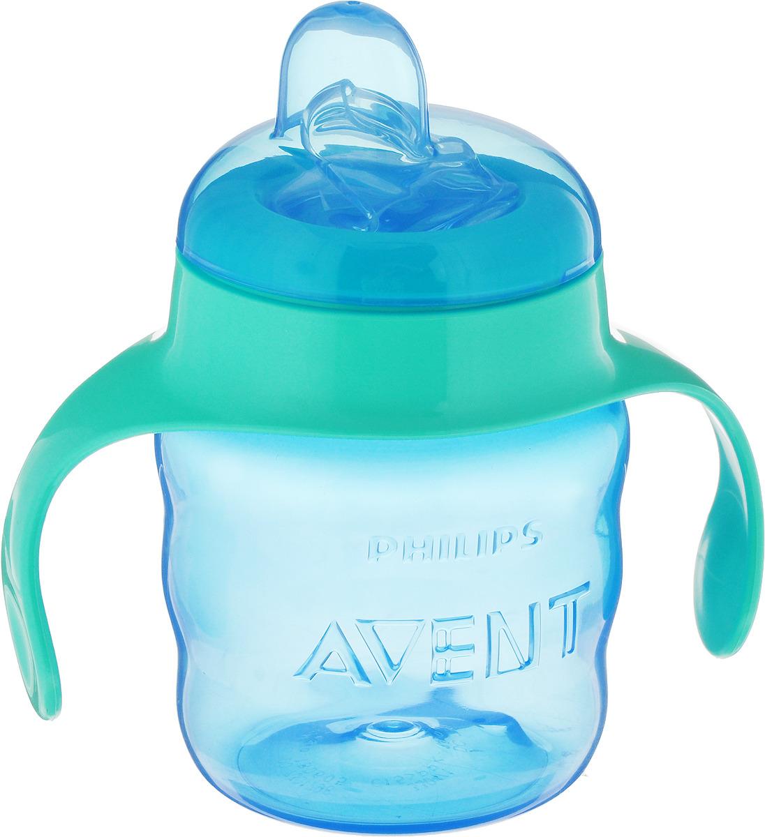 Чашка-непроливайка Philips Avent с мягким носиком для мальчиков от 6 месяцев, 200 мл. SCF551/05 бутылочка для кормления philips avent с мягким носиком и ручками от 4 месяцев цвет белый