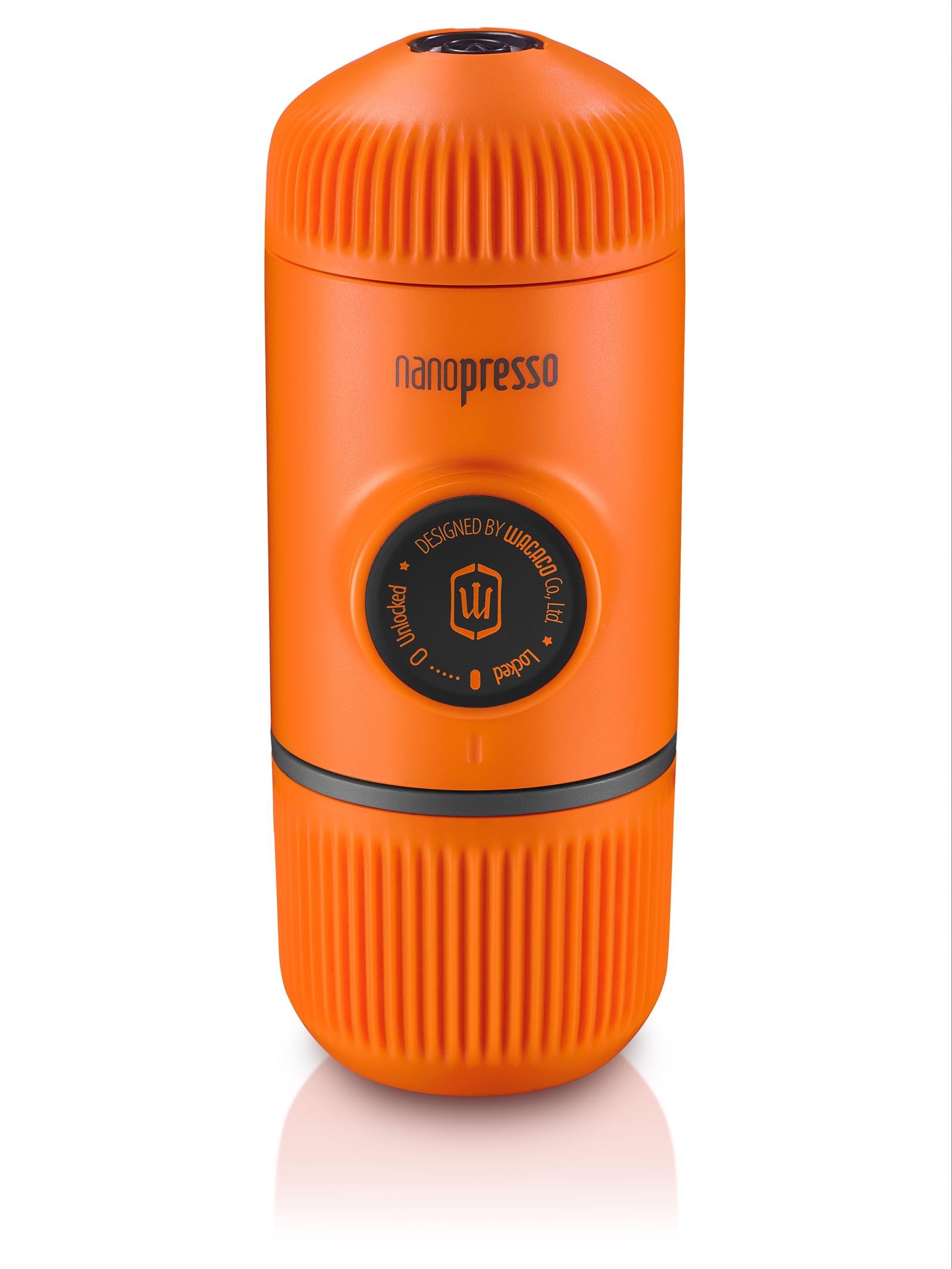 Кофемашина Wacaco Ручная мини-кофемашина Wacaco (NANOPRESSO-ORANGEPATROL), молотый кофе, оранжевый, NANOPRESSO-ORANGEPATROL