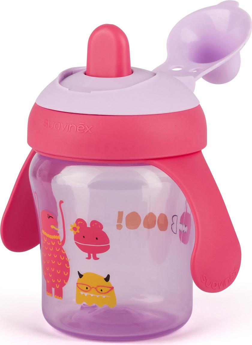 Поильник Suavinex Booo, от 6 месецев. 3169526 фиол. suavinex поильник booo от 4 месяцев с ручками цвет розовый