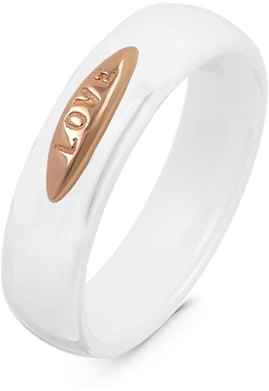 Кольцо женское Серебро России, серебро 925. TC-R01043-W-G-X-X-X. Размер 19СереброКольцо из золочёного серебра с керамикой