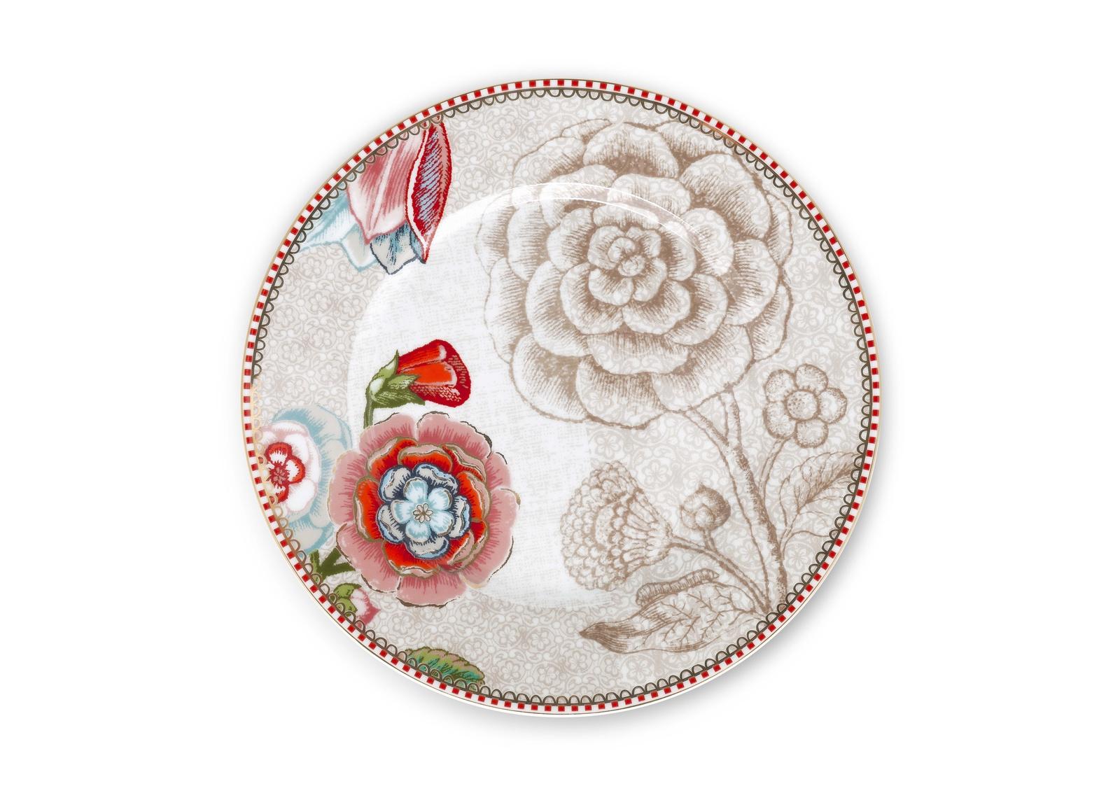 Тарелка PiP Studio Floral, 51.001.155, диаметр 17 см, 2 шт тарелка псковский гончар орнамент цвет бежевый диаметр 20 см