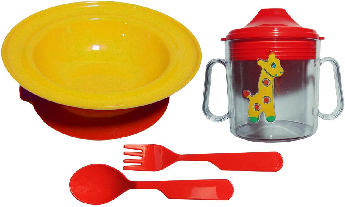 Набор посуды для кормления АртХаус 1311-1212красн, Пластик