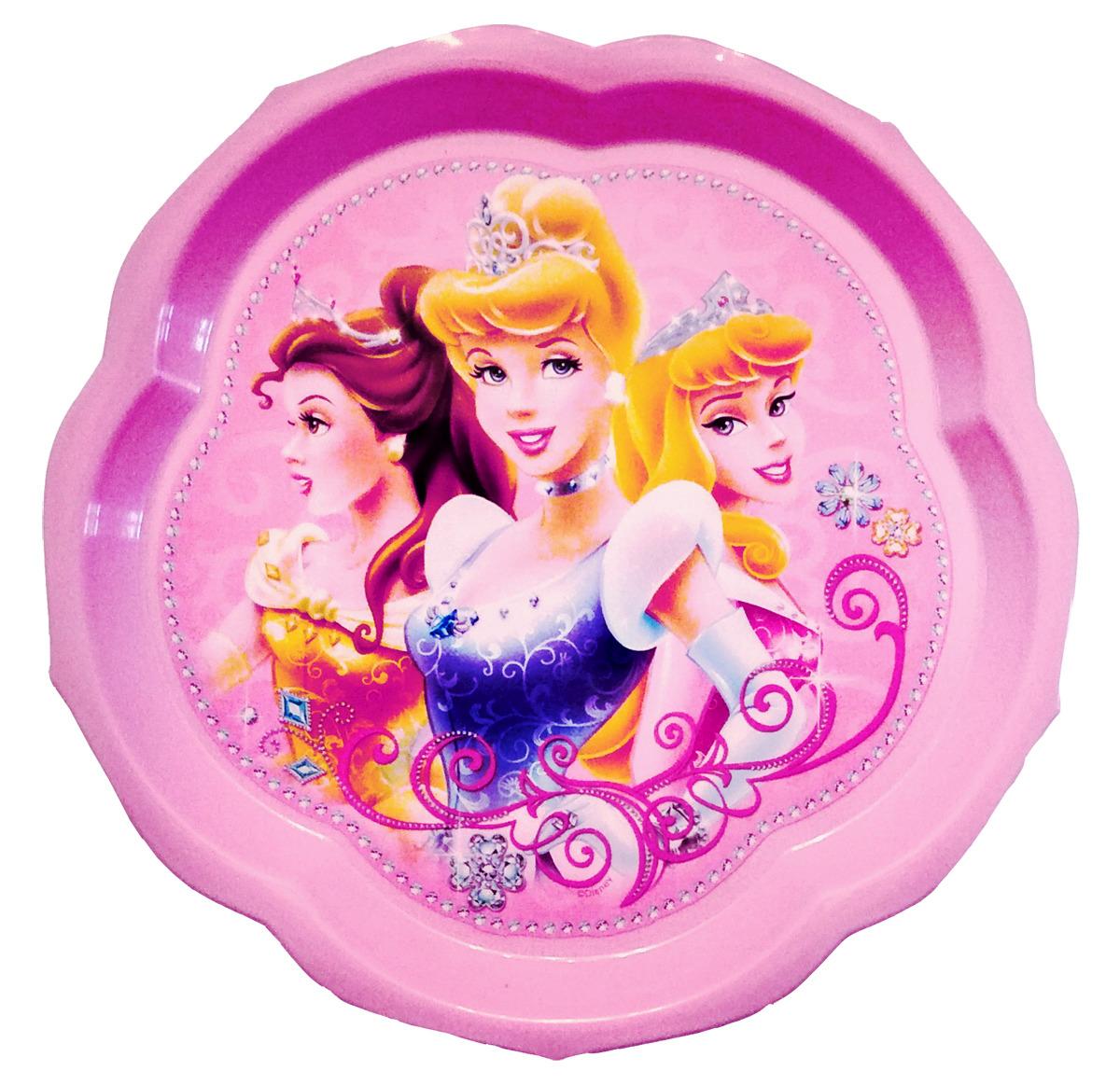 Тарелка Disney детская, фигурная Принцессы, розовый disney приглашения юной принцессы принцессы