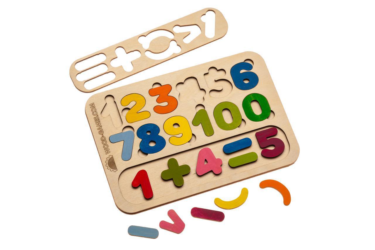 "Пазл Wood Machine Доска-сортер. Модель ""Цифры"""