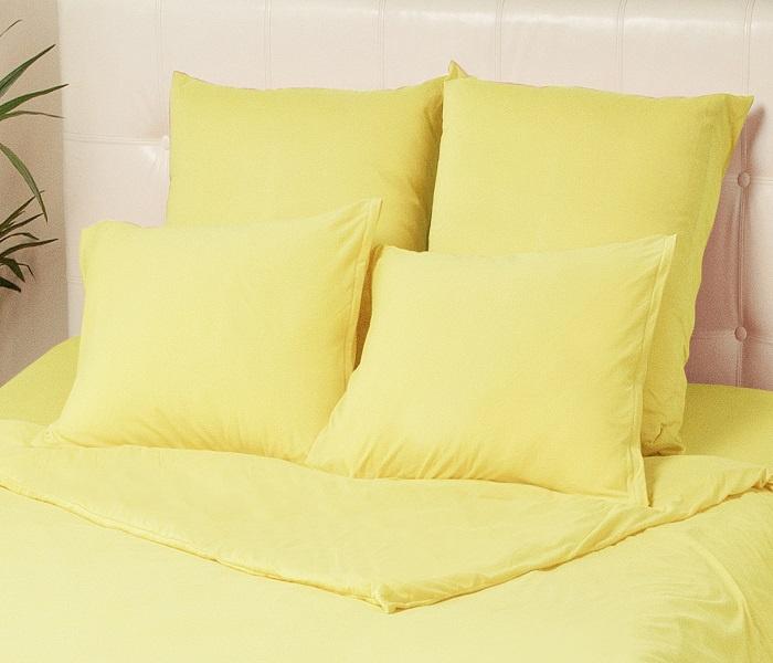 Наволочки KUPU-KUPU VIOLETT трикотажные на молнии, KНV-57, желтый, 50 х 70 см, 2 шт