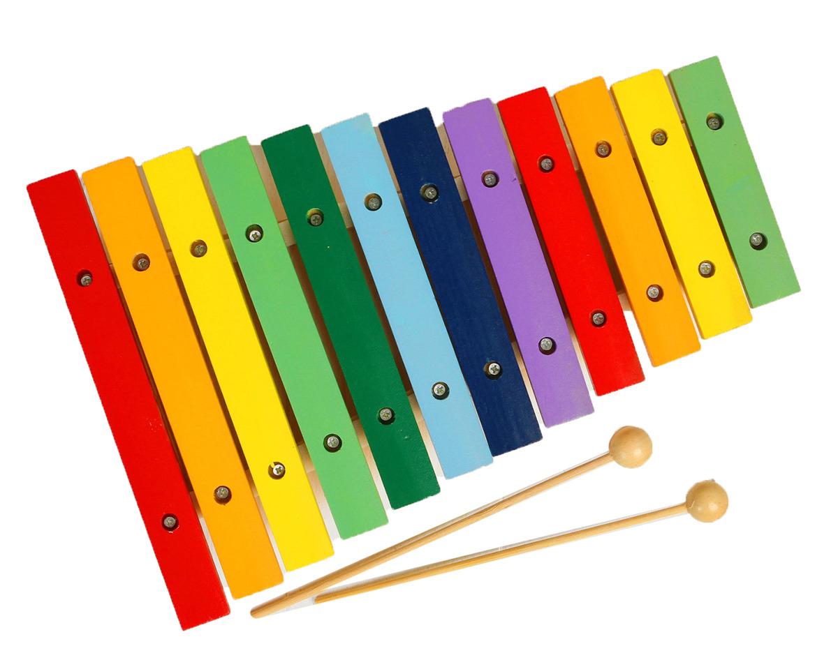 Музыкальная игрушка Лесная мастерская Ксилофон 454307 lamaze музыкальная игра лев логан звук мелодия lamaze
