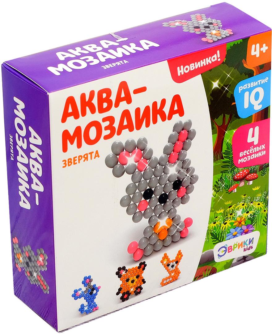 Аквамозаика Эврики Лесные зверята 2933736 настольная игра эврики аквамозаика насекомые 2933730