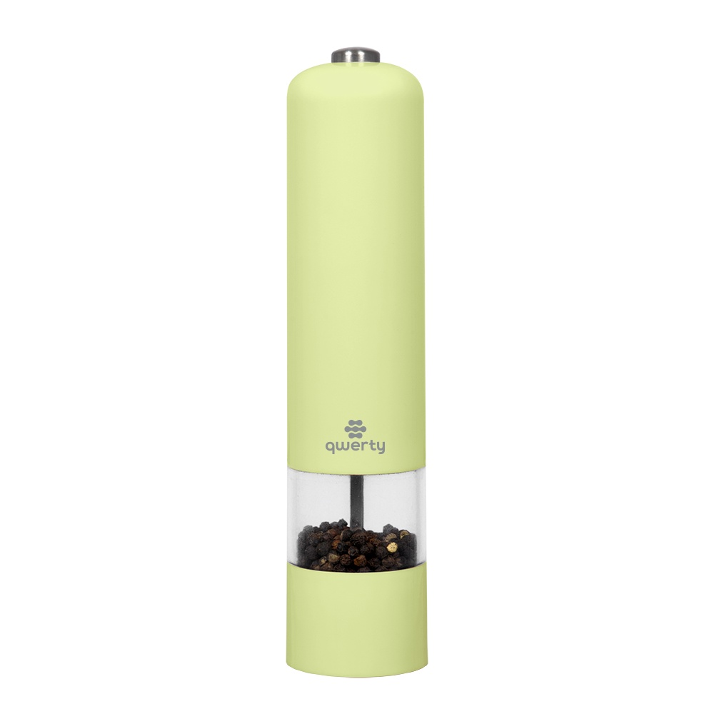 Мельница для специй QWERTY Электромельница перец/соль, цвет салатовый, 71004, светло-зеленый мельница ручная мельница перец соль 2 в 1 iris i3348 i
