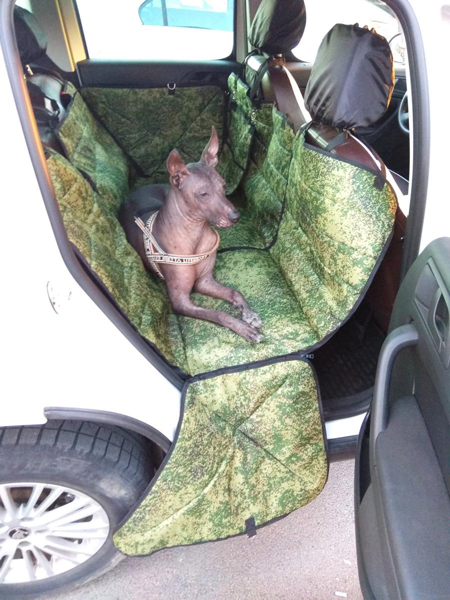 Автогамак-трансформер Auto Premium, для крупных собак, 77072, камуфляж автогамак трансформер для перевозки для крупных собак auto premium 77046