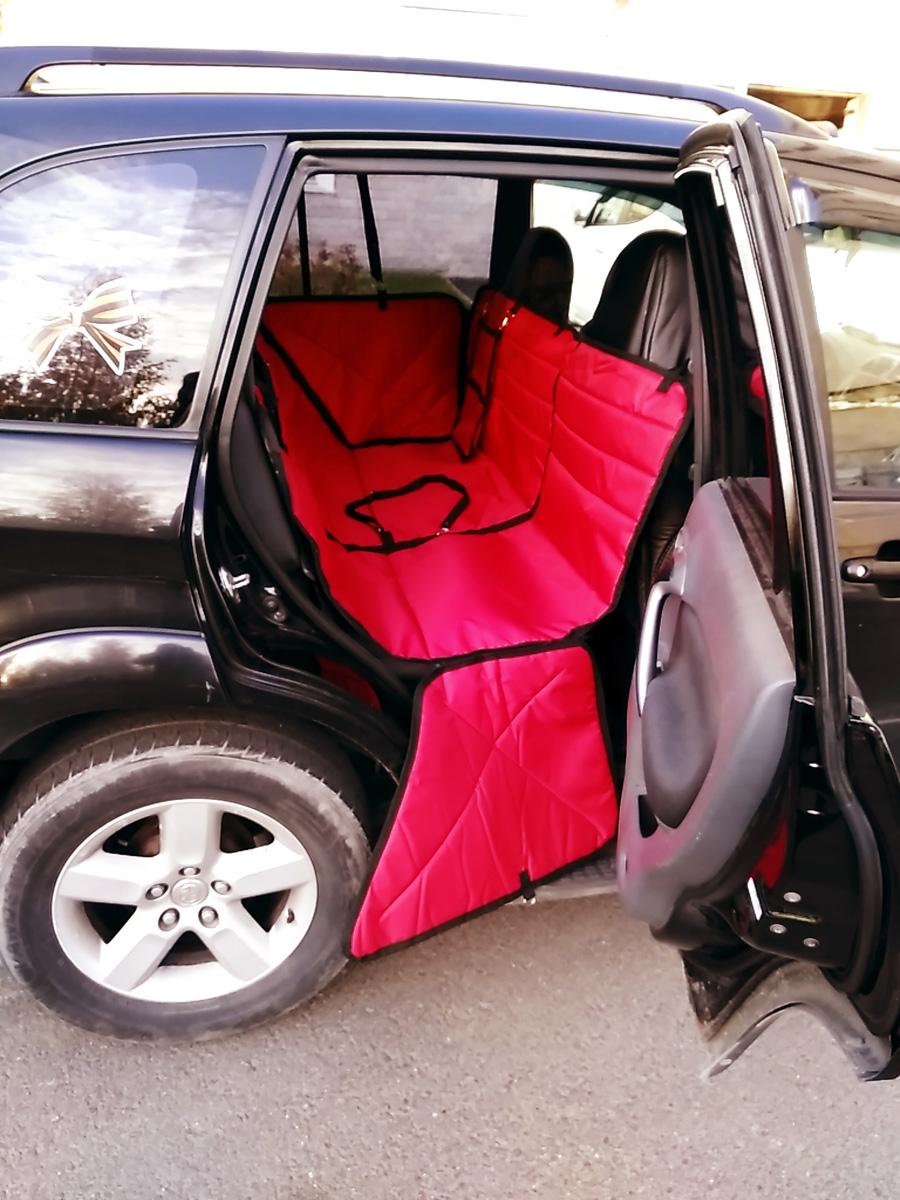 Автогамак-трансформер Auto Premium, для крупных собак, 77185, красный автогамак для для перевозки собак auto premium на переднее сиденье 77048