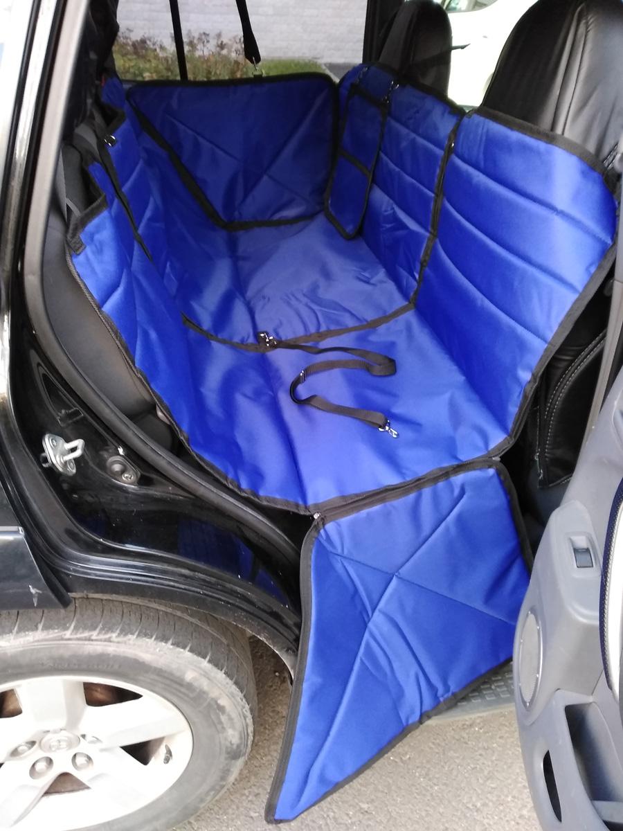 Автогамак-трансформер Auto Premium, для крупных собак, 77186, синий автогамак трансформер для перевозки для крупных собак auto premium 77046