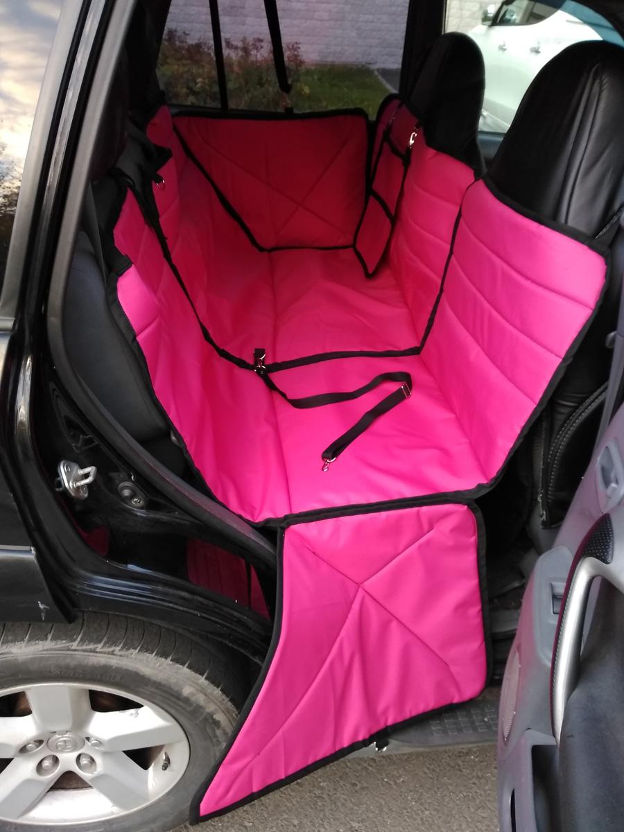 Автогамак-трансформер Auto Premium, для крупных собак, 77187, розовый автогамак трансформер для перевозки для крупных собак auto premium 77046