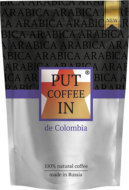 Кофе растворимый PUT coffee IN de Colombia, сублимированный, 75 г imudji red dragon кофе растворимый 100 г