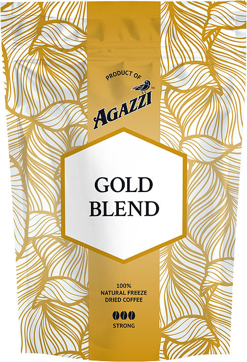 Кофе растворимый Agazzi Gold Blend Strong, сублимированный, 95 г ledron strong gold