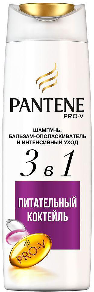 """Шампунь и бальзам-ополаскиватель Pantene """"Интенсивный уход 3в1. Питательный коктейль"""", 360 мл"""