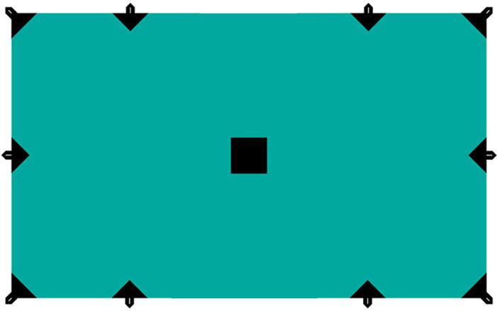 Тент Tramp, цвет: зеленый, 3 х 5 м