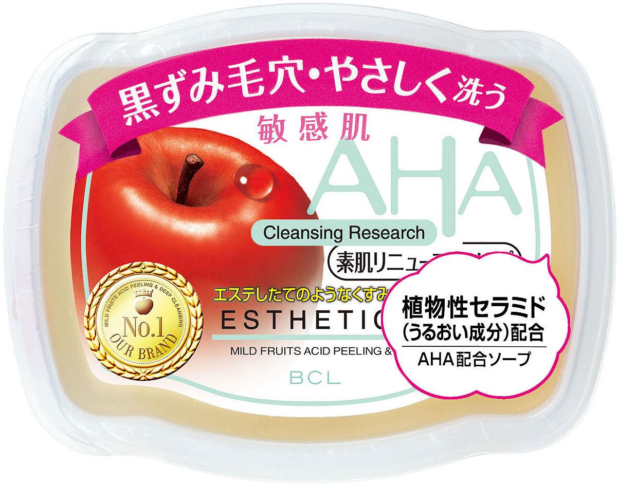 Мыло-пилинг для лица AHA Sensitive сужающее поры c фруктовыми кислотами, 100 г AHA