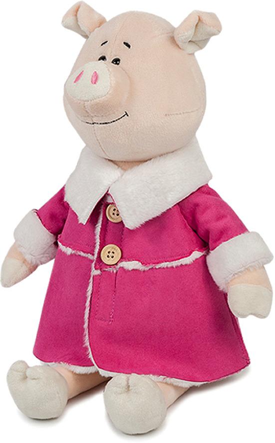 Мягкая игрушка Maxitoys Luxury Свинка Глаша в дубленке, MT-MRT031803-22