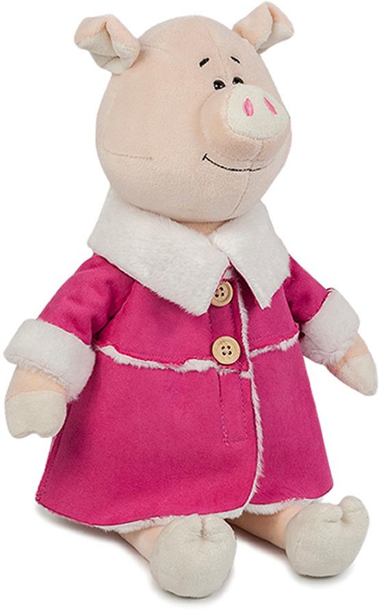 Мягкая игрушка Maxitoys Luxury Свинка Глаша в дубленке, MT-MRT031803-28